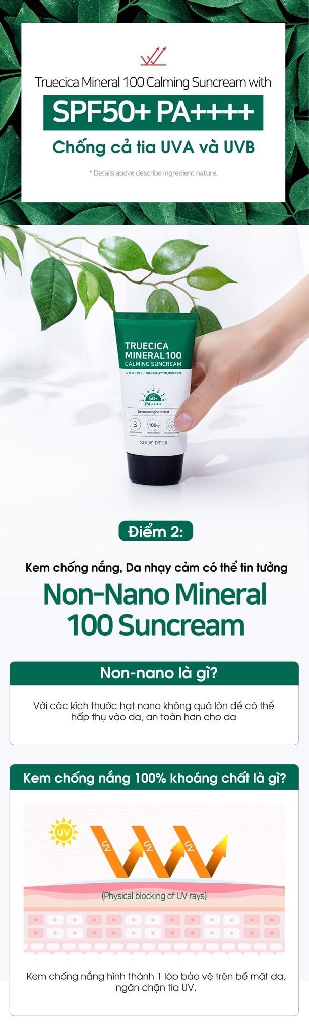 Some By Mi Truecica Mineral 100 Calming Suncream